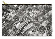 Tokyo Intersection Black And White Carry-all Pouch