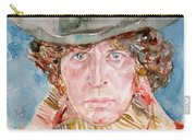Tom Baker Doctor Who Watercolor Portrait Carry-all Pouch