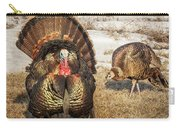 Tom Turkey And Hen Carry-all Pouch