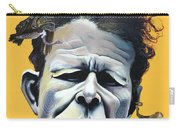 Tom Waits - He's Big In Japan Carry-all Pouch by Kelly Jade King
