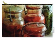 Tomatoes And String Beans In Canning Jars Carry-all Pouch