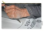 Tombstone Engraver At Work Carry-all Pouch