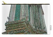 Top Of Temple Of The Dawn-wat Arun In Bangkok-thailand Carry-all Pouch