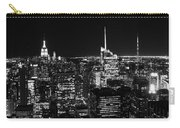 Top Of The Rock In Black And White Carry-all Pouch