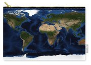 Topography Map Of The World Carry-all Pouch