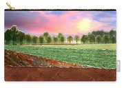 Torn Paper Fields Of Green And Brown Carry-all Pouch