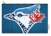 Toronto Blue Jays Baseball Team Vintage Logo Recycled Ontario License Plate Art Carry-all Pouch