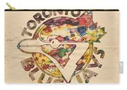 Toronto Blue Jays Vintage Art Carry-all Pouch