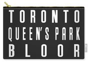 Toronto City Subway Sign Carry-all Pouch