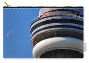 Toronto Cn Tower Moon And Jet Trail Carry-all Pouch