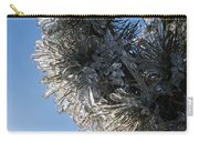 Toronto Ice Storm 2013 - Pine Needle Flowers In The Sky Carry-all Pouch
