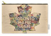 Toronto Maple Leafs Hockey Poster Carry-all Pouch