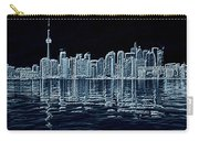 Toronto Skyline In Blue Carry-all Pouch