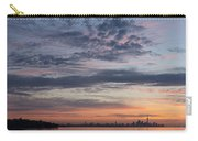 Toronto Skyline In Pastel Blue Pink Yellow Orange And Purple Carry-all Pouch