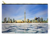Toronto Skyline In Winter Carry-all Pouch