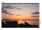 Toronto Skyline Panorama At Sunrise Carry-all Pouch