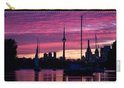 Toronto Skyline - The Boats Are Coming In Carry-all Pouch