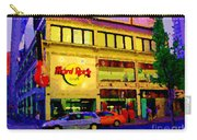 Toronto Street Scene Night Scapes Hard Rock Cafe Downtown Drive By City Lights Canadian Art Cspandau Carry-all Pouch