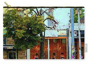 Toronto Stroll Past Fashion Stores Downtown Early Autumn Urban City Scenes Canadian Art C Spandau Carry-all Pouch