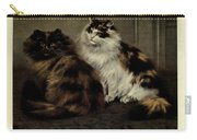 Tortoiseshell And Tortoiseshell And White Persians Carry-all Pouch