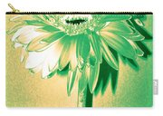 Touch Of Turquoise Zinnia Carry-all Pouch