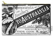 Tourism Australasia, 1889 Carry-all Pouch