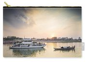 Tourist Boat On Sunset Cruise In Phnom Penh Cambodia River Carry-all Pouch