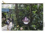 Tourist Doing Photography And Viewing Plants In A Garden Carry-all Pouch