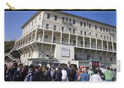 Tourists At Alcatraz Island Carry-all Pouch