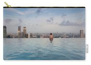 Tourists At Infinity Pool Of Marina Bay Carry-all Pouch