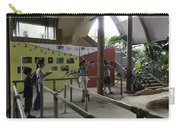 Tourists In A Queue At One Of The Exhibits Inside The Jurong Bird Park Carry-all Pouch