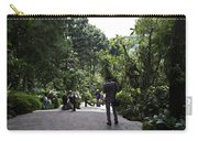 Tourists Inside A Downward Sloping Section In The Orchid Garden Carry-all Pouch