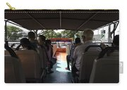 Tourists On The Sight-seeing Bus Run By The Hippo Company In Singapore Carry-all Pouch by Ashish Agarwal