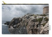 Stunning Tower Over The Cliffs Of Alcafar In Minorca Island - Tower And Sea Carry-all Pouch