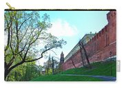 Tower And Wall From Park Outside Kremlin In Moscow-russia Carry-all Pouch