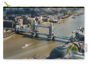 Tower Bridge And London City Hall Aerial View Carry-all Pouch