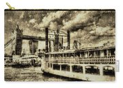 Tower Bridge And The Elizabethan Vintage Carry-all Pouch