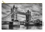 Tower Bridge In London Uk Black And White Carry-all Pouch