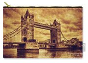 Tower Bridge In London Uk Vintage Style Carry-all Pouch