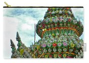 Tower Closeup Of Buddhist Temple At Grand Palace Of Thailand  Carry-all Pouch