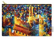Tower - Palette Knife Oil Painting On Canvas By Leonid Afremov Carry-all Pouch