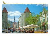 Towers As Gateways To Old Town Tallinn-estonia Carry-all Pouch