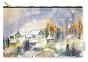 Town By The Rhine Falls In Switzerland Carry-all Pouch