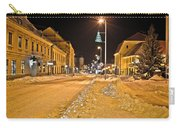 Town In Deep Snow On Christmas  Carry-all Pouch