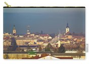 Town Of Bjelovar Winter Skyline Carry-all Pouch