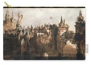Town With A Broken Bridge Carry-all Pouch by Victor Hugo