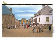 Townsfolk On Street To The Sea In Louisbourg Living History Museum-174 Carry-all Pouch