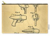 Toy Ray Gun Patent Carry-all Pouch