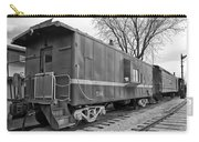 Tpw Rr Caboose Black And White Carry-all Pouch