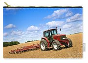 Tractor In Plowed Farm Field Carry-all Pouch by Elena Elisseeva